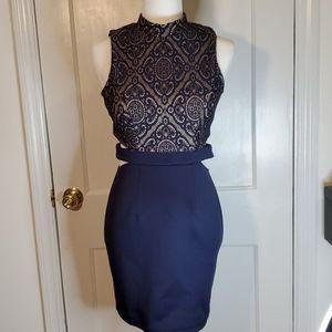 Beautiful Navy Blue Evening Dress